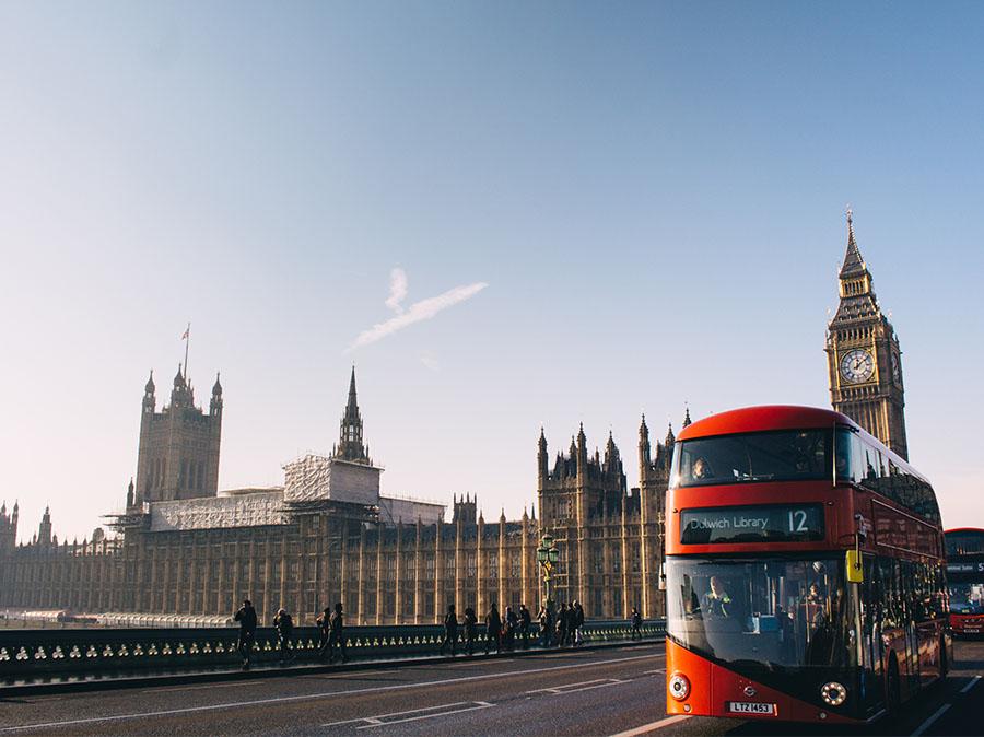 Autobus a caffè a Londra