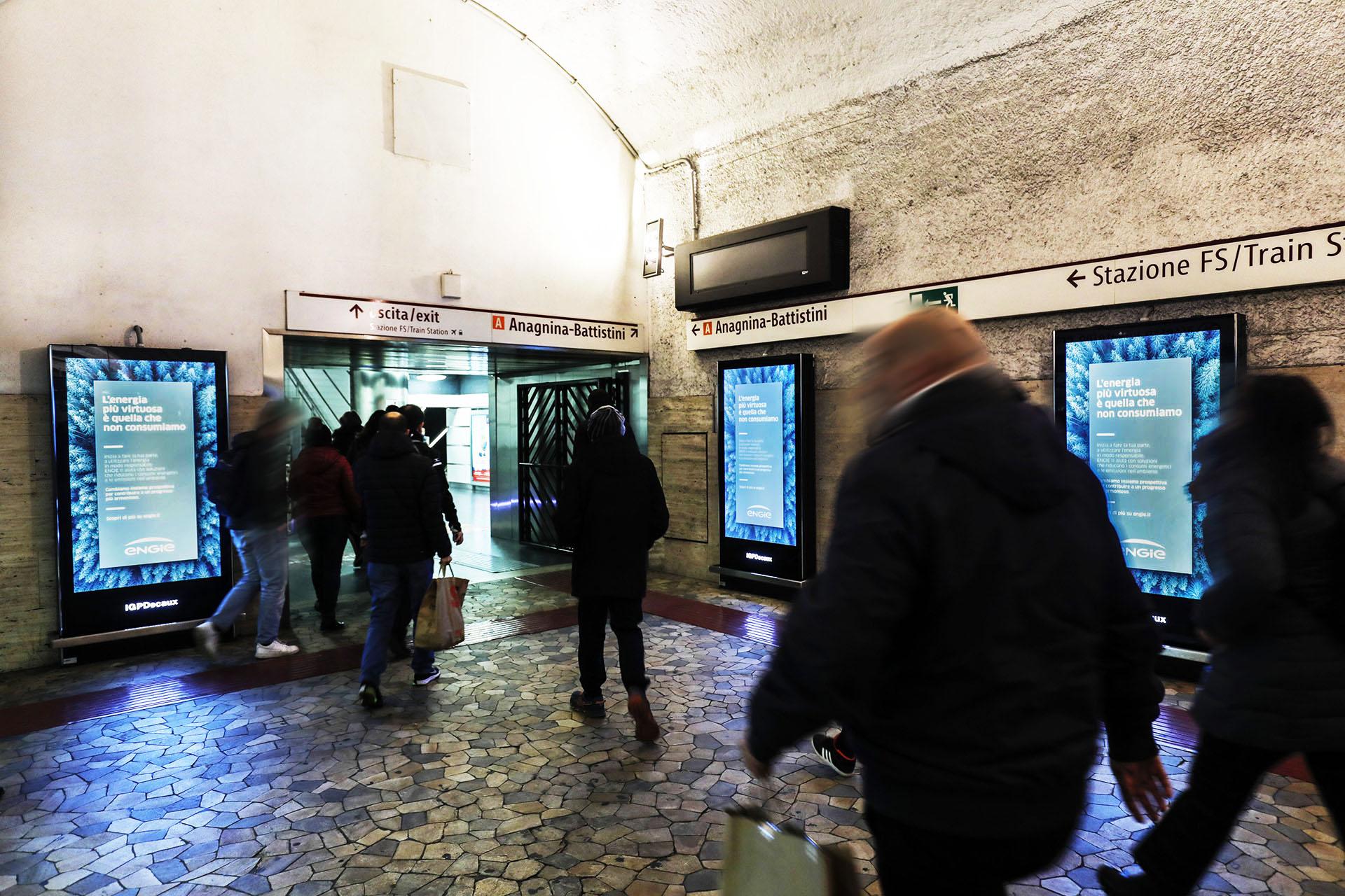 Circuito digital metropolitana IGPDecaux a Roma