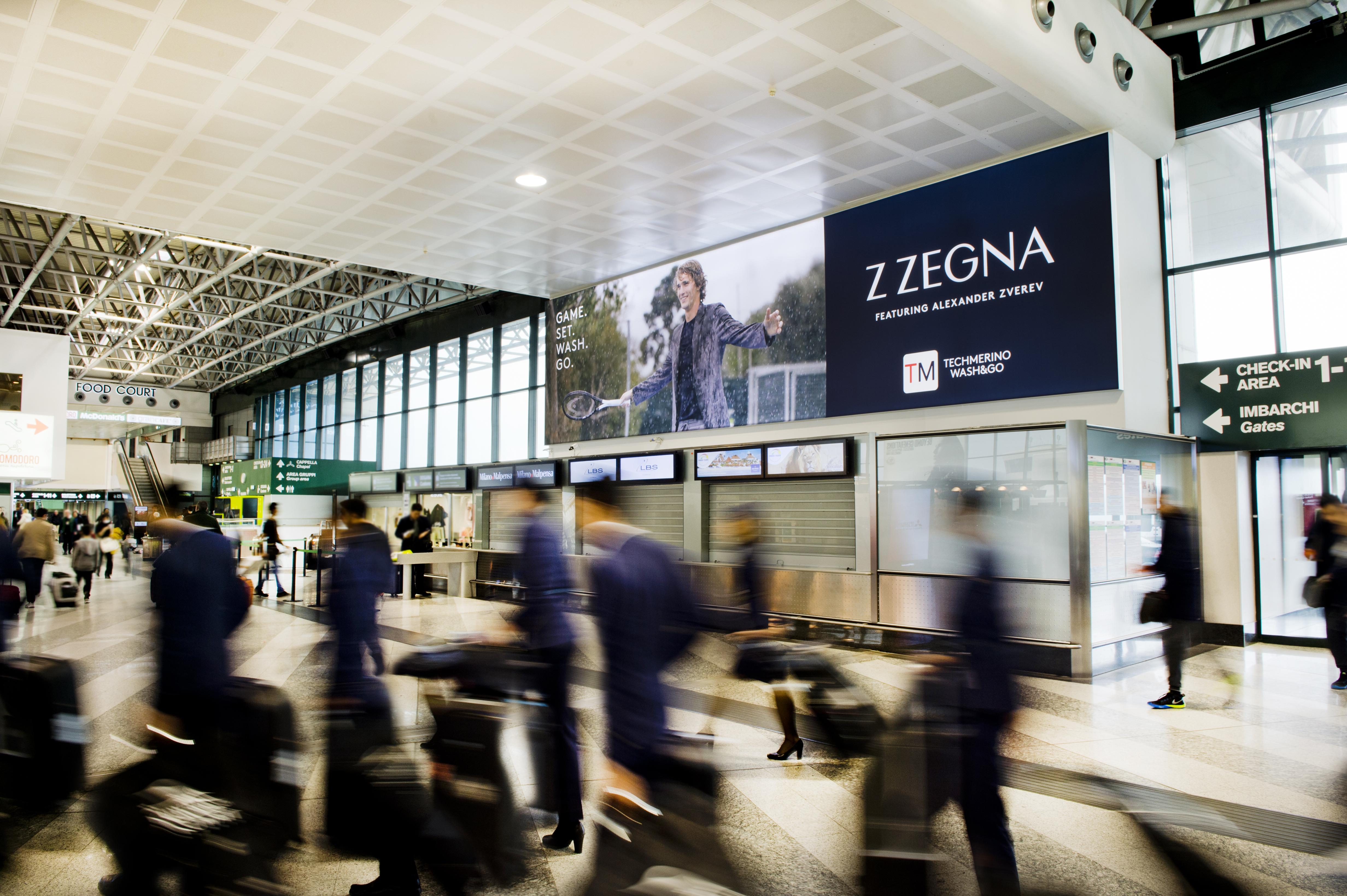 Aeroporto Malpensa pubblicità IGPDecaux