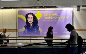 Levante nella campagna di Spotify in metropolitana a Torino