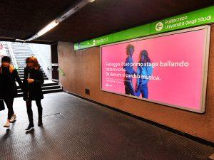 La campagna di Spotify a Milano – Stazione Piola M2