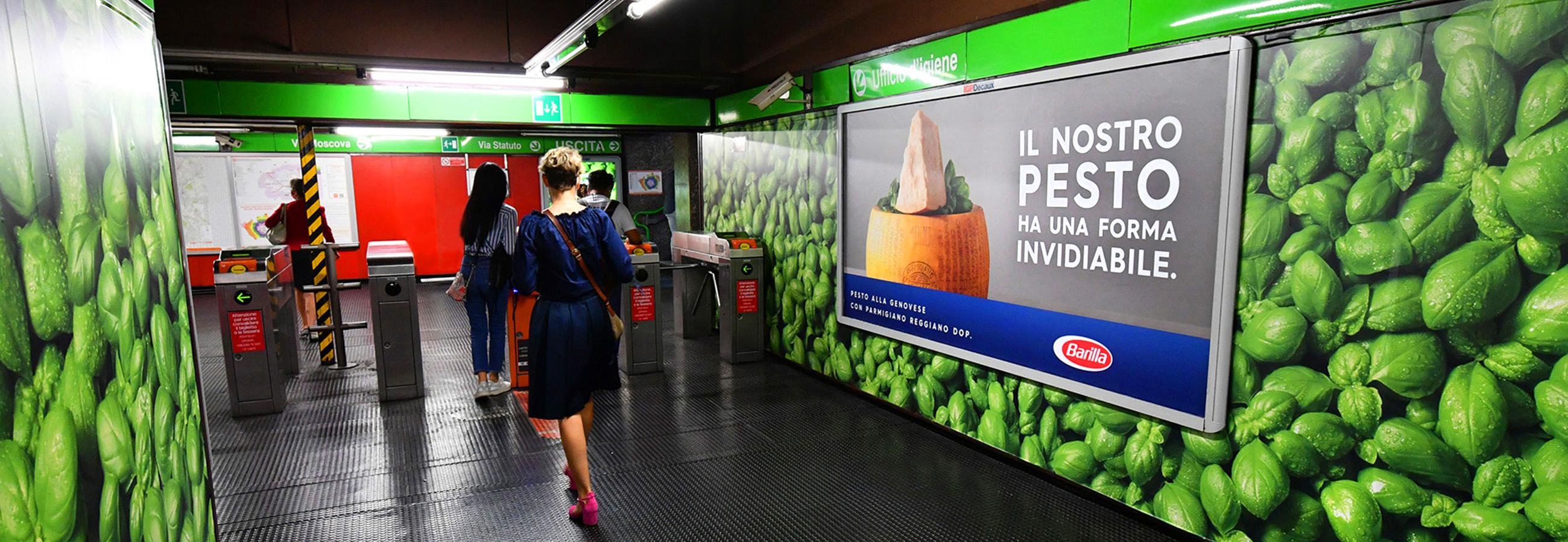 Banner Barilla Station Domination IGPDecaux Milano