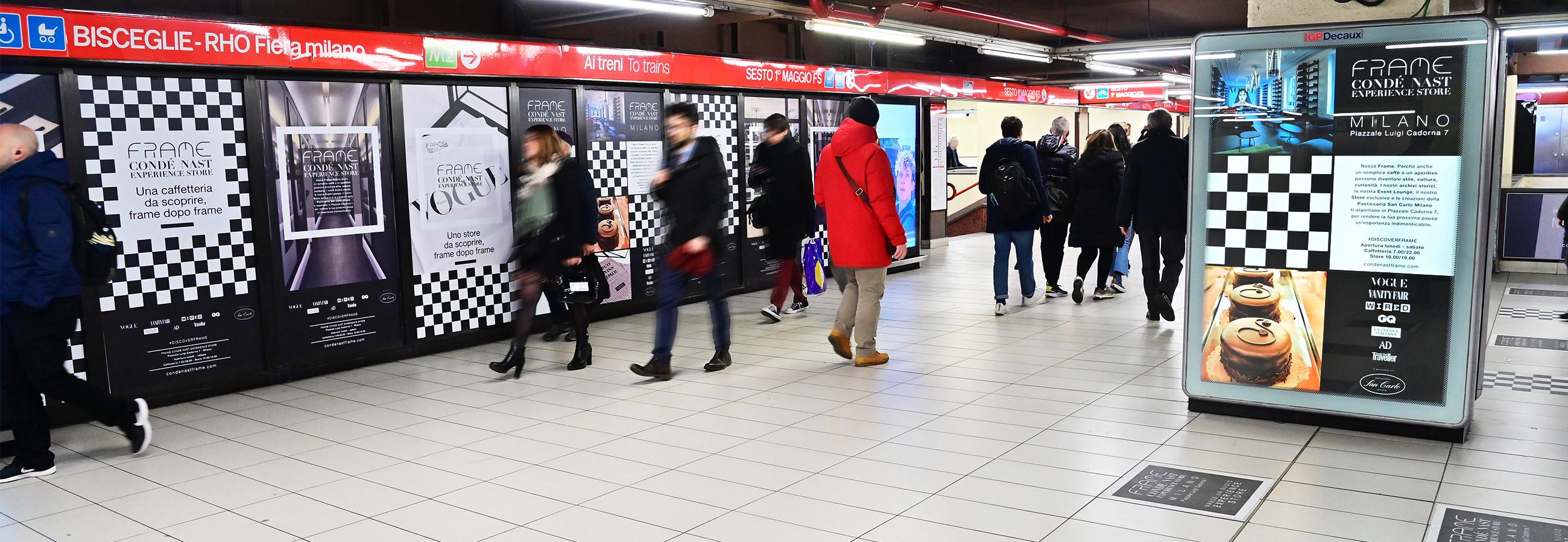 Station Domination IGPDecaux a Milano per Condé Nast