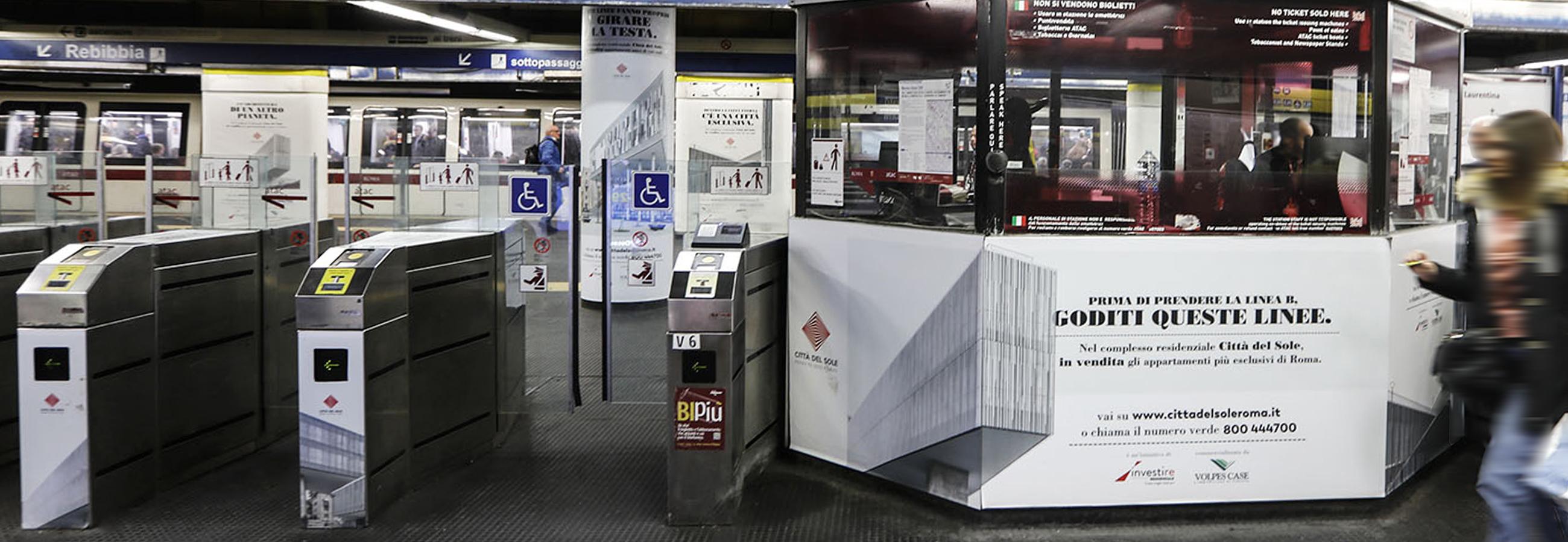 Station Domination a Roma Tiburtina per Città del Sole
