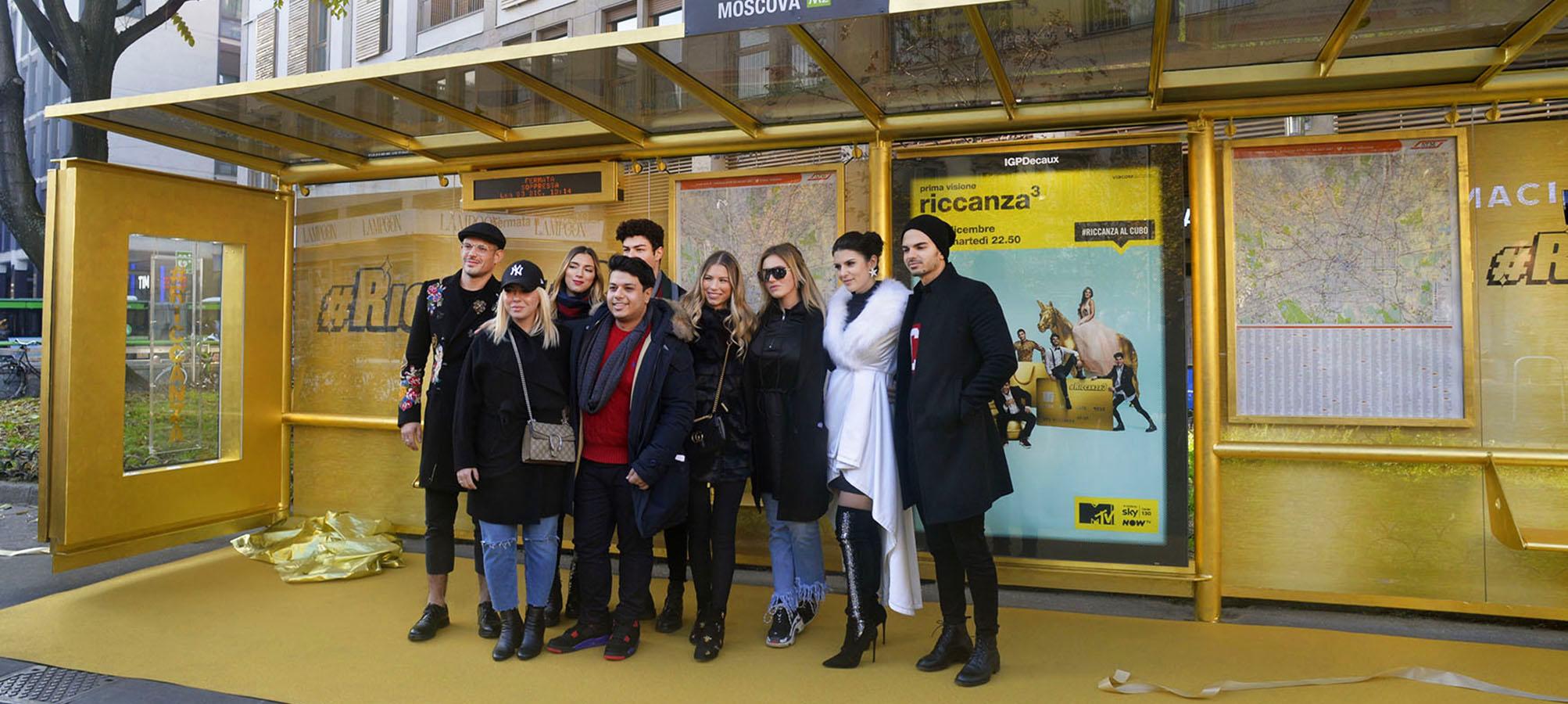 Brand pensilina a Milano per Riccanza