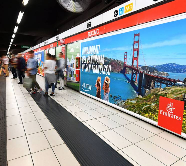 IGPDecaux Milan Station Domination for Emirates