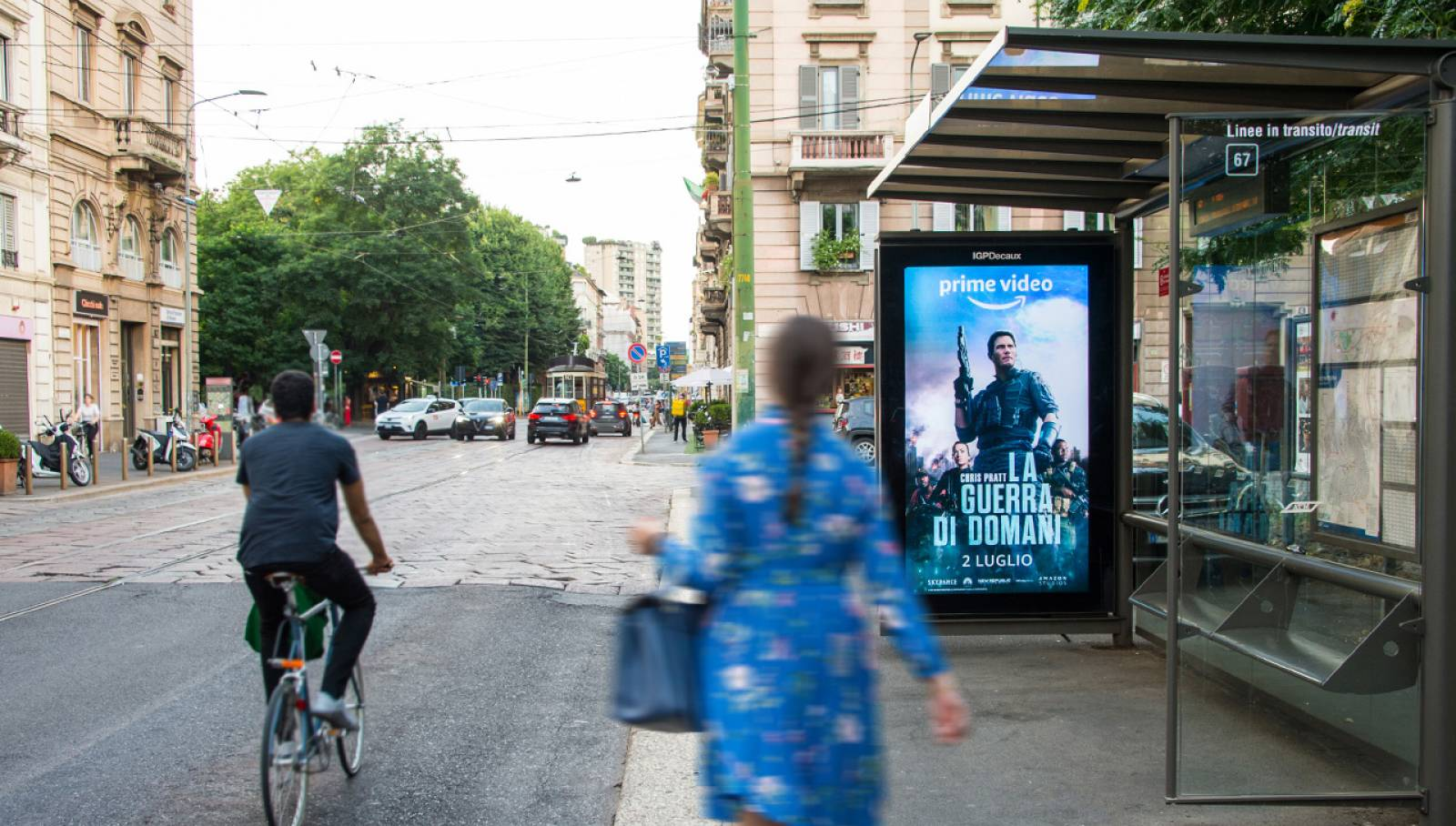 Digital Out Of Home IGPDecaux Milano Network Vision per Amazon Prime Video