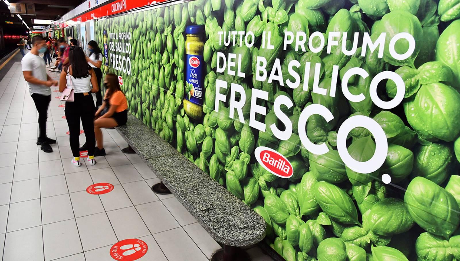Station Domination IGPDecaux per Barilla Milano Cadorna