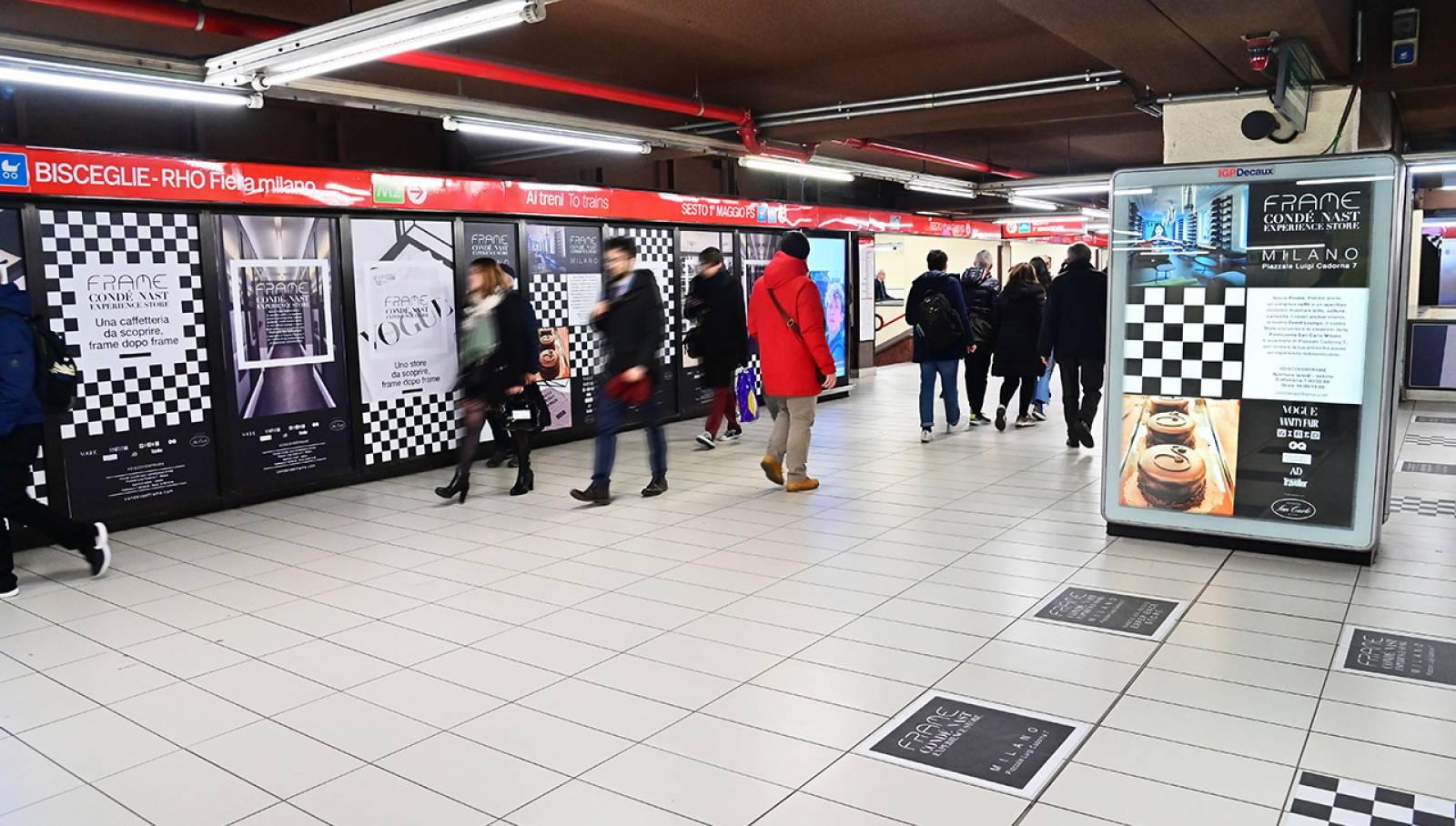 Pubblicità OOH a Milano IGPDecaux Station Domination per Condé Nast