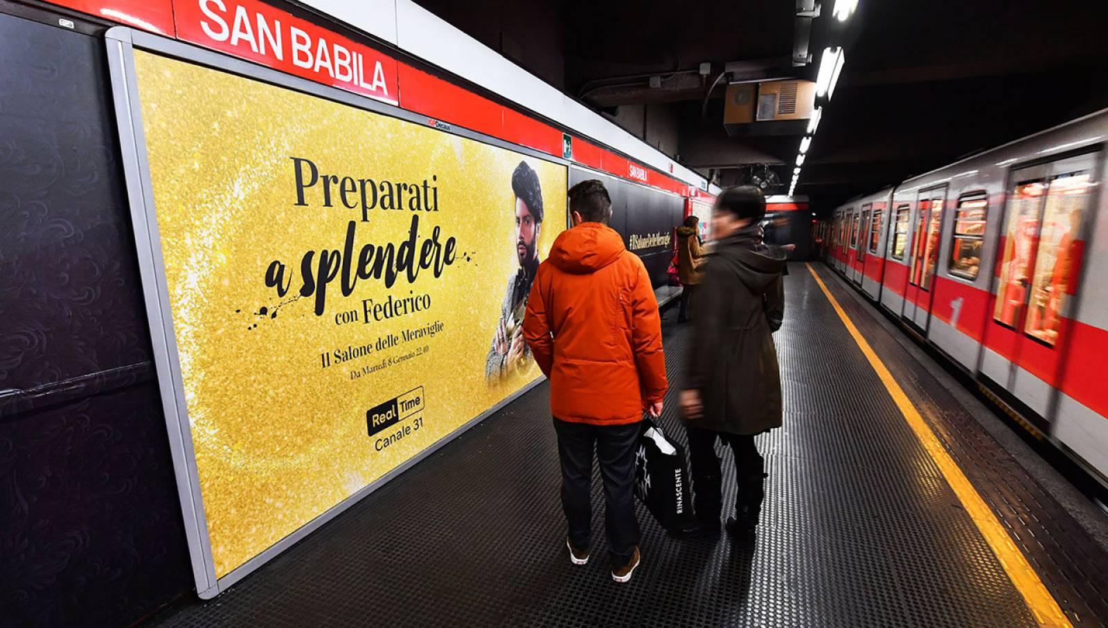 Pubblicità in metropolitana IGPDecaux Milano station domination per Discovery Channel