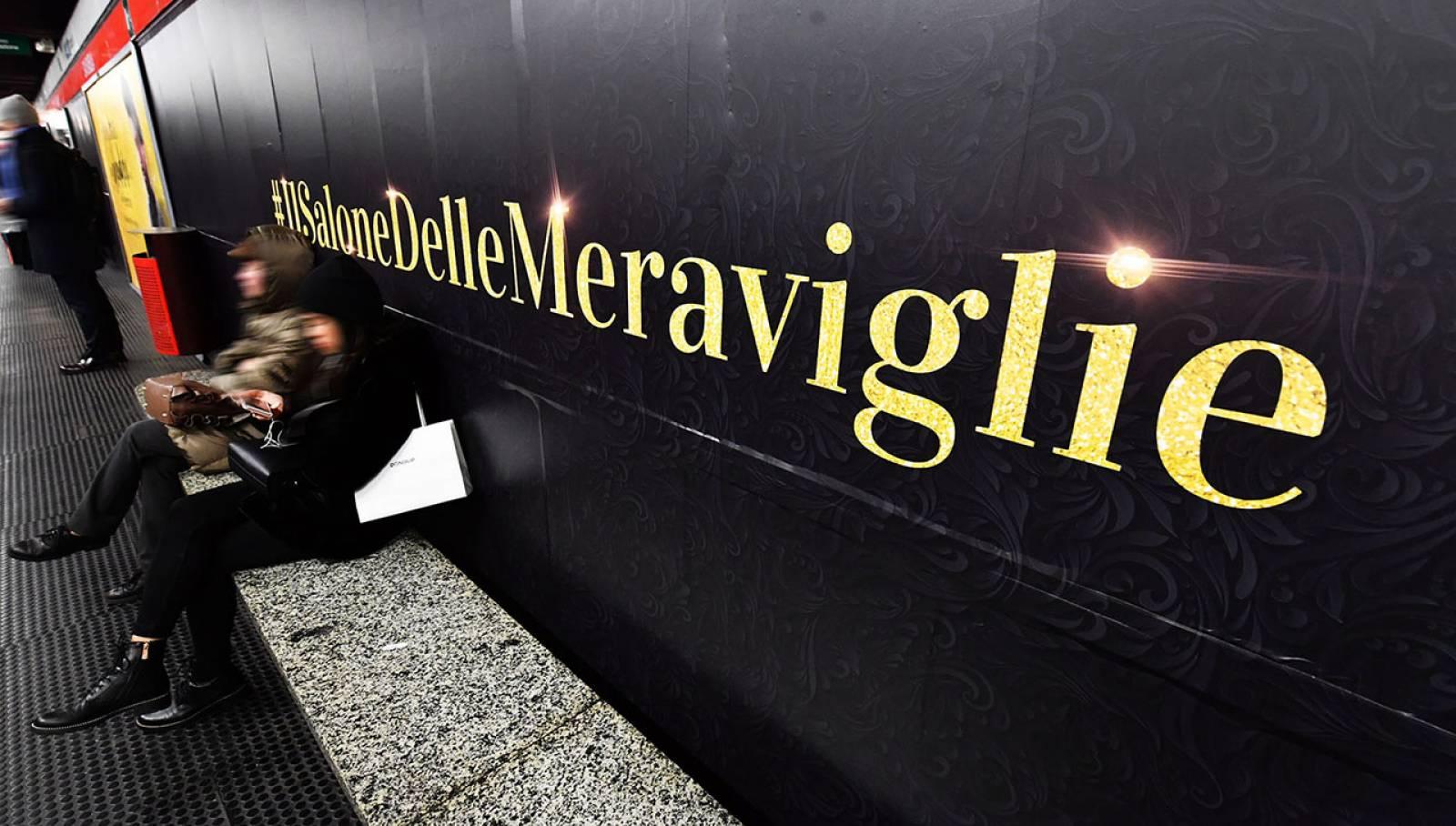 Pubblicità metro Milano station domination IGPDecaux per Discovery Channel