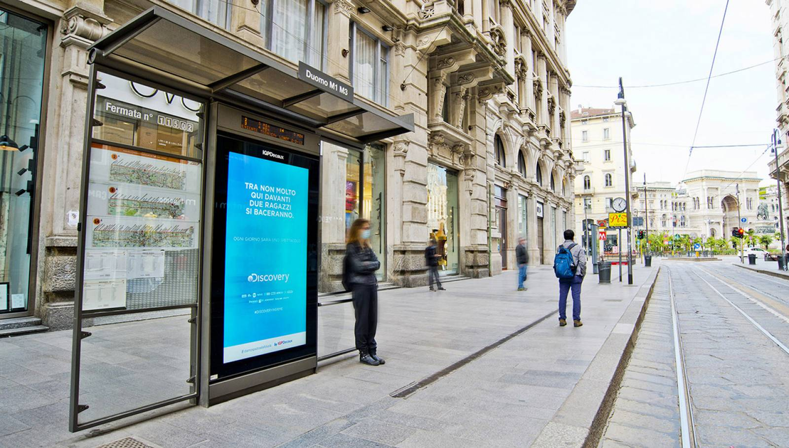 Out of Home IGPDecaux Milano Network Vision per Discovery Italia Channel
