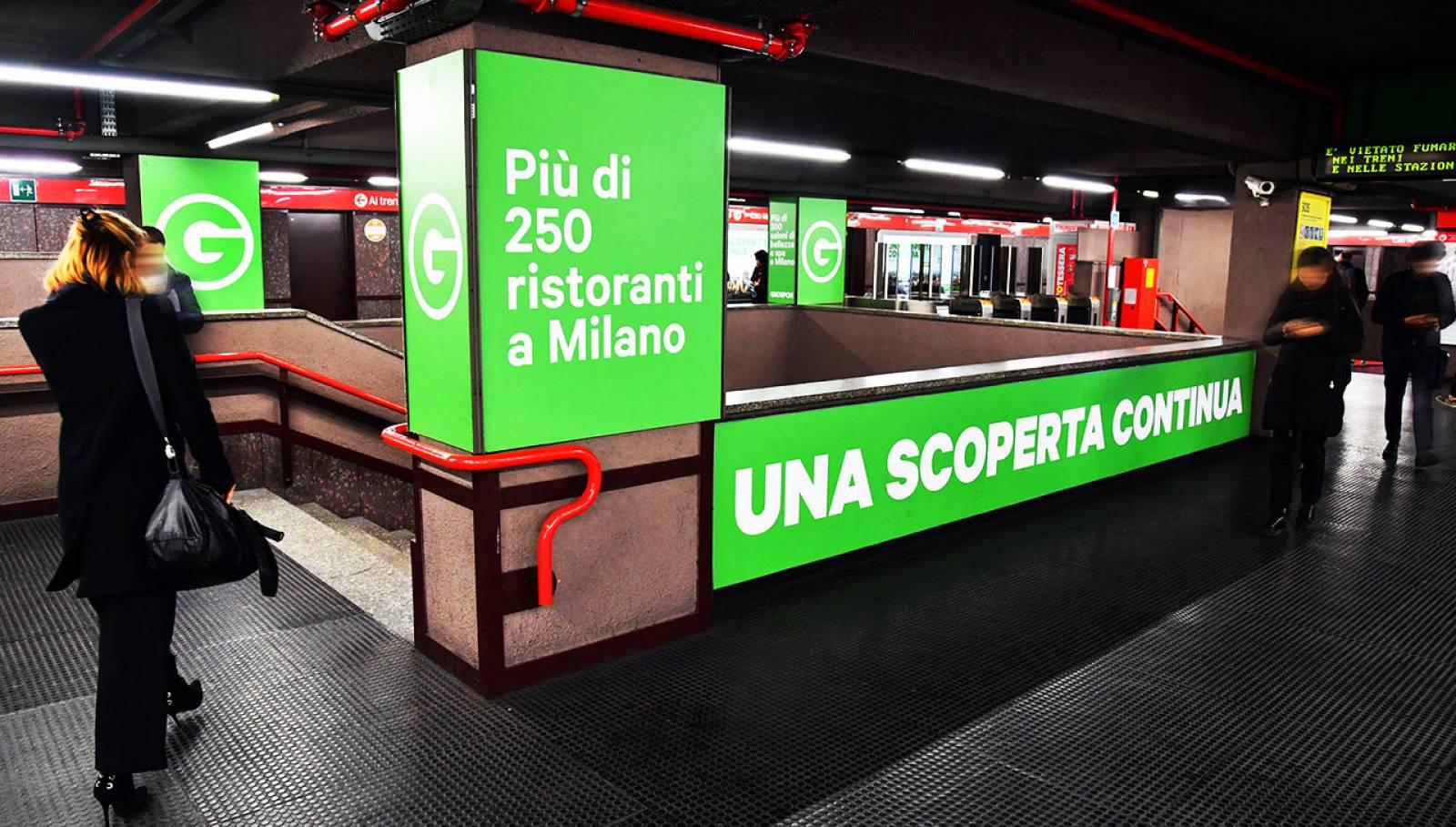 Pubblicità in metropolitana IGPDecaux Milano Station Domination per Groupon