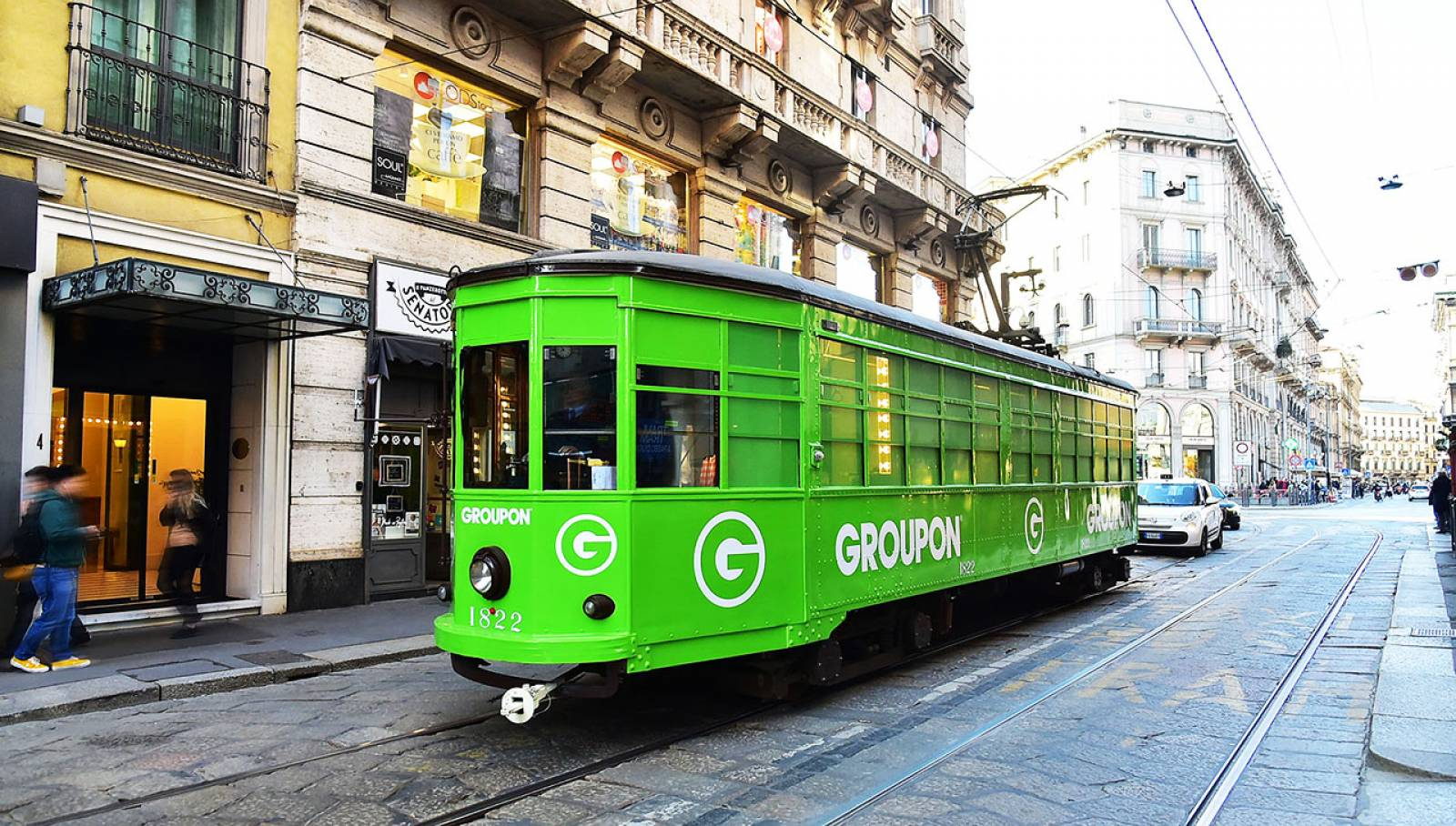 Out of Home IGPDecaux a Milano tram speciale per Groupon