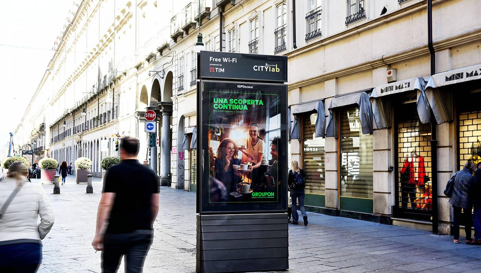 IGPDecaux Torino MUPI per Groupon