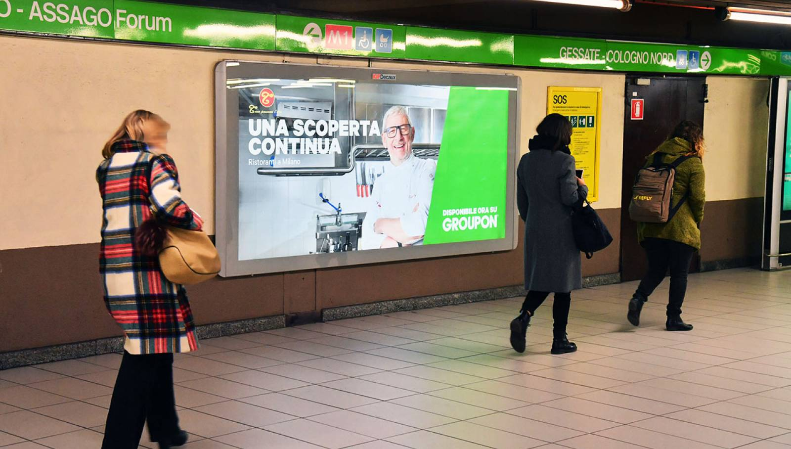 Pubblicità in metropolitana IGPDecaux Circuito Maxi per Groupon