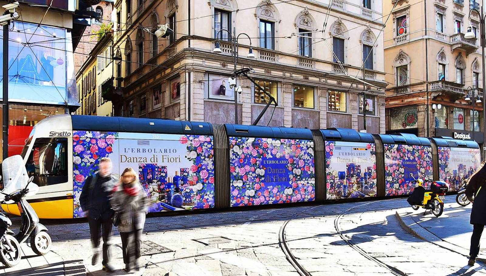 IGPDecaux Out of Home tram decorato a Milano per L'Erbolario