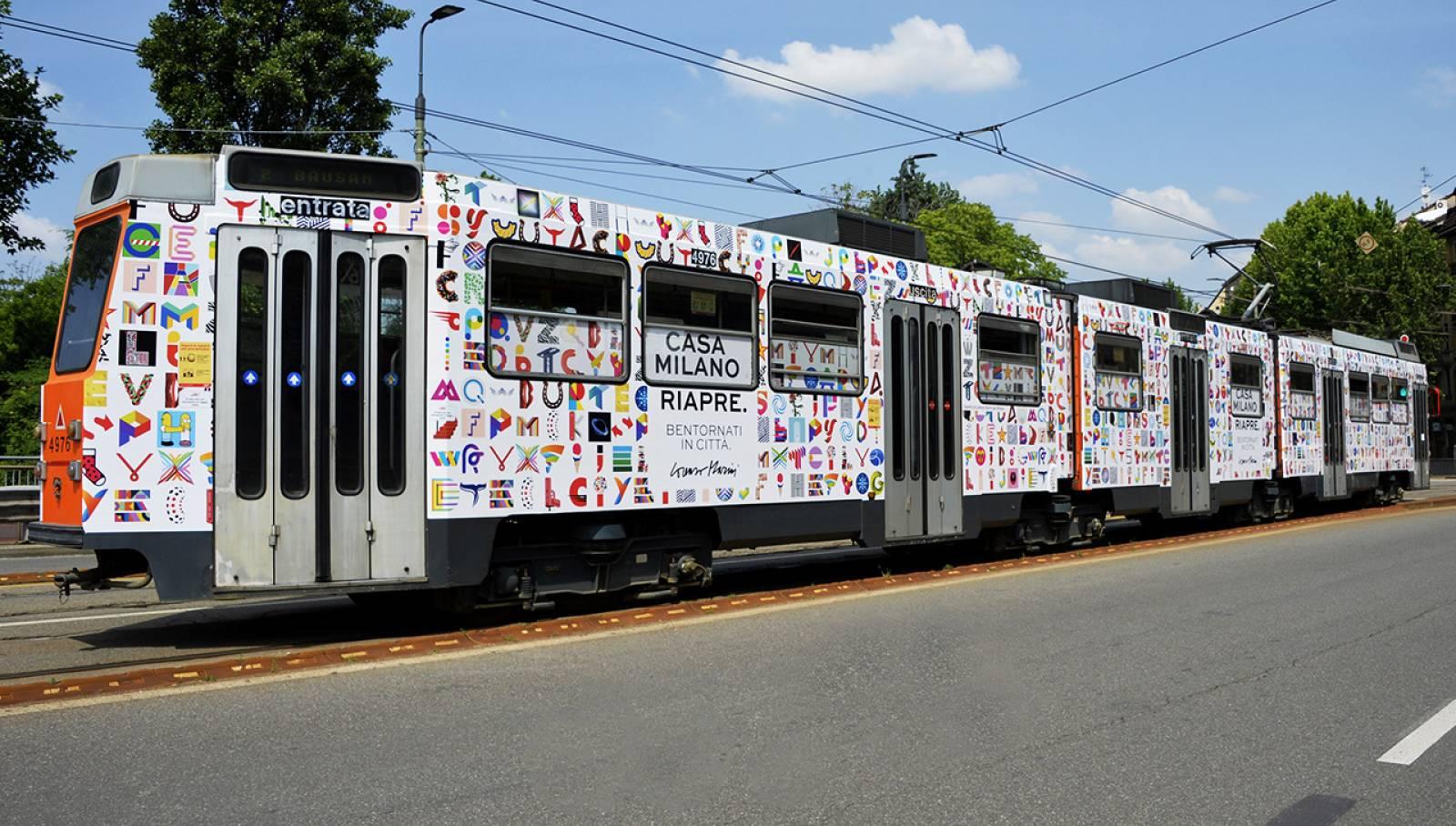 Pubblicità OOH IGPDecaux Milano Pubblicità su tram Full-Wrap per Lorenzo Marini