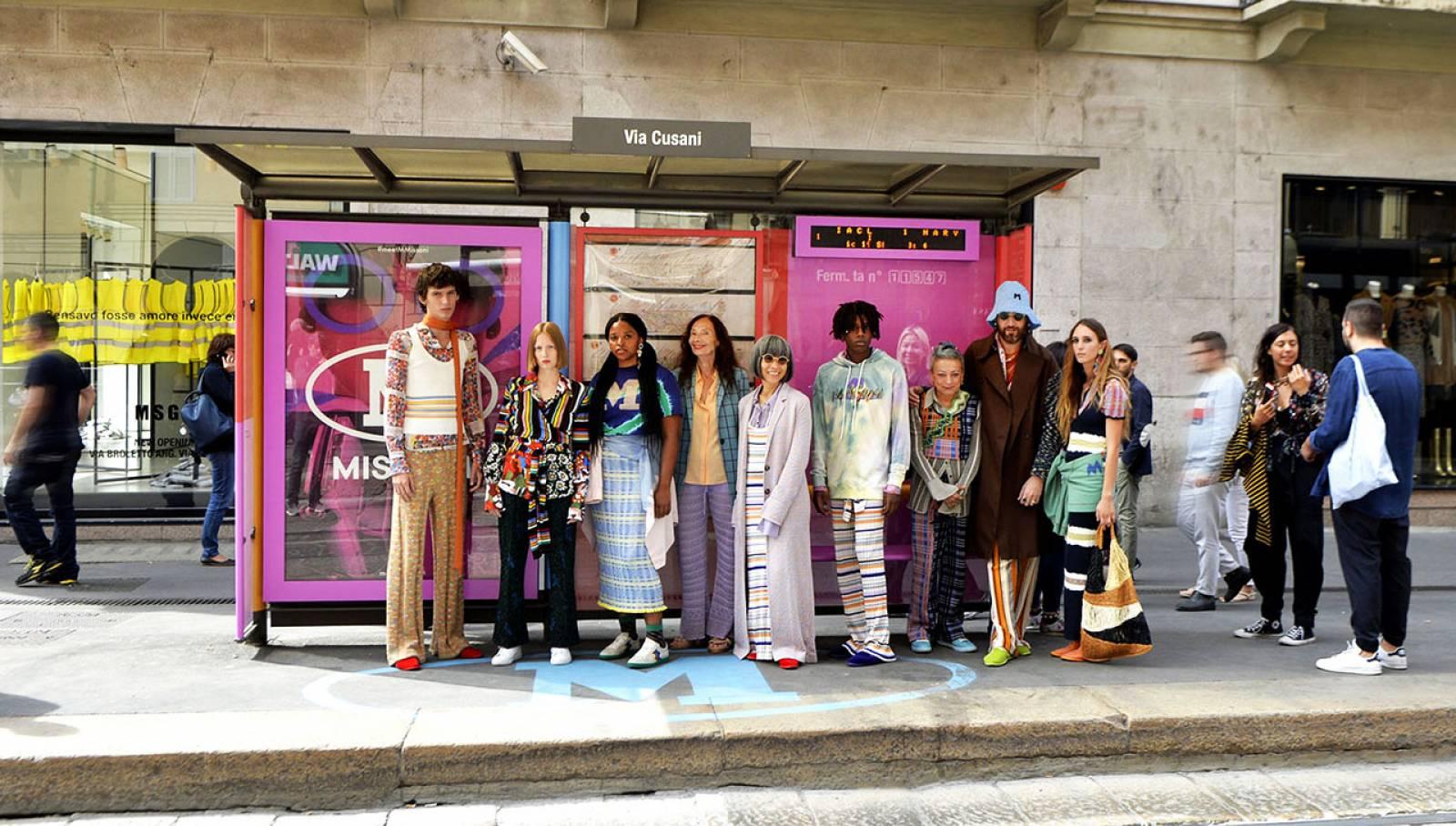 Pubblicità sulle pensiline IGPDecaux Milano Brand pensiline per M Missoni