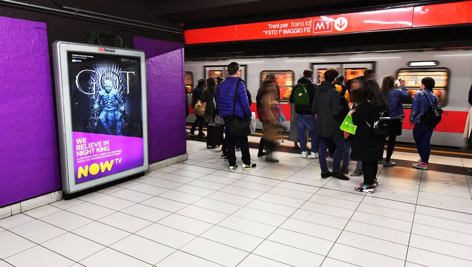 IGPDecaux Milano Station Domination per il Trono di Spade Now TV