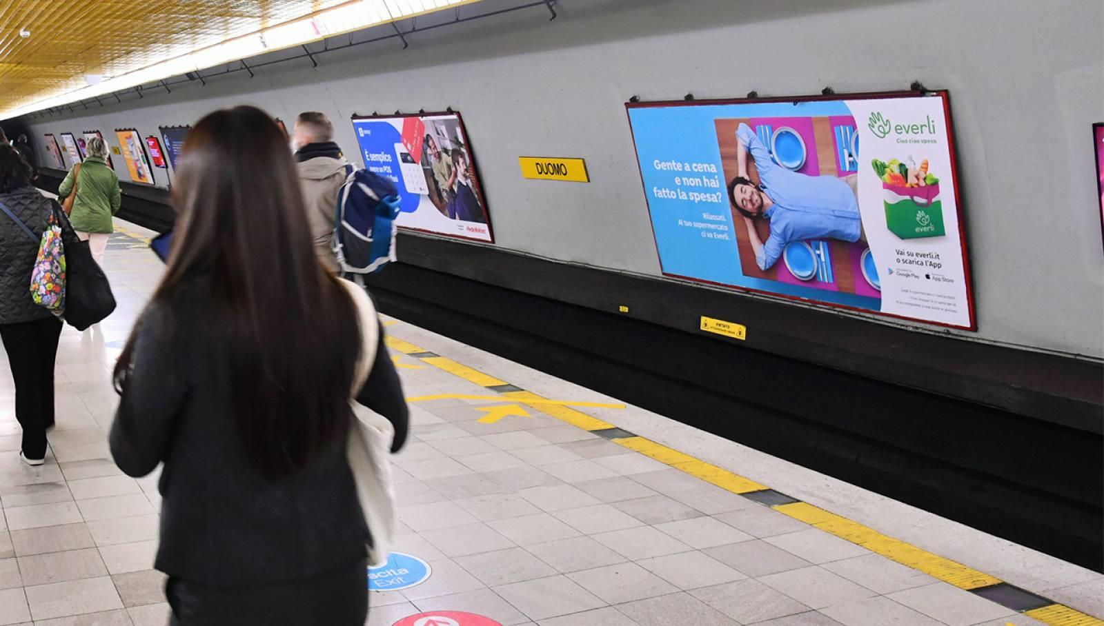 IGPDecaux OOH Milano Circuito Maxi in metropolitana per Everli