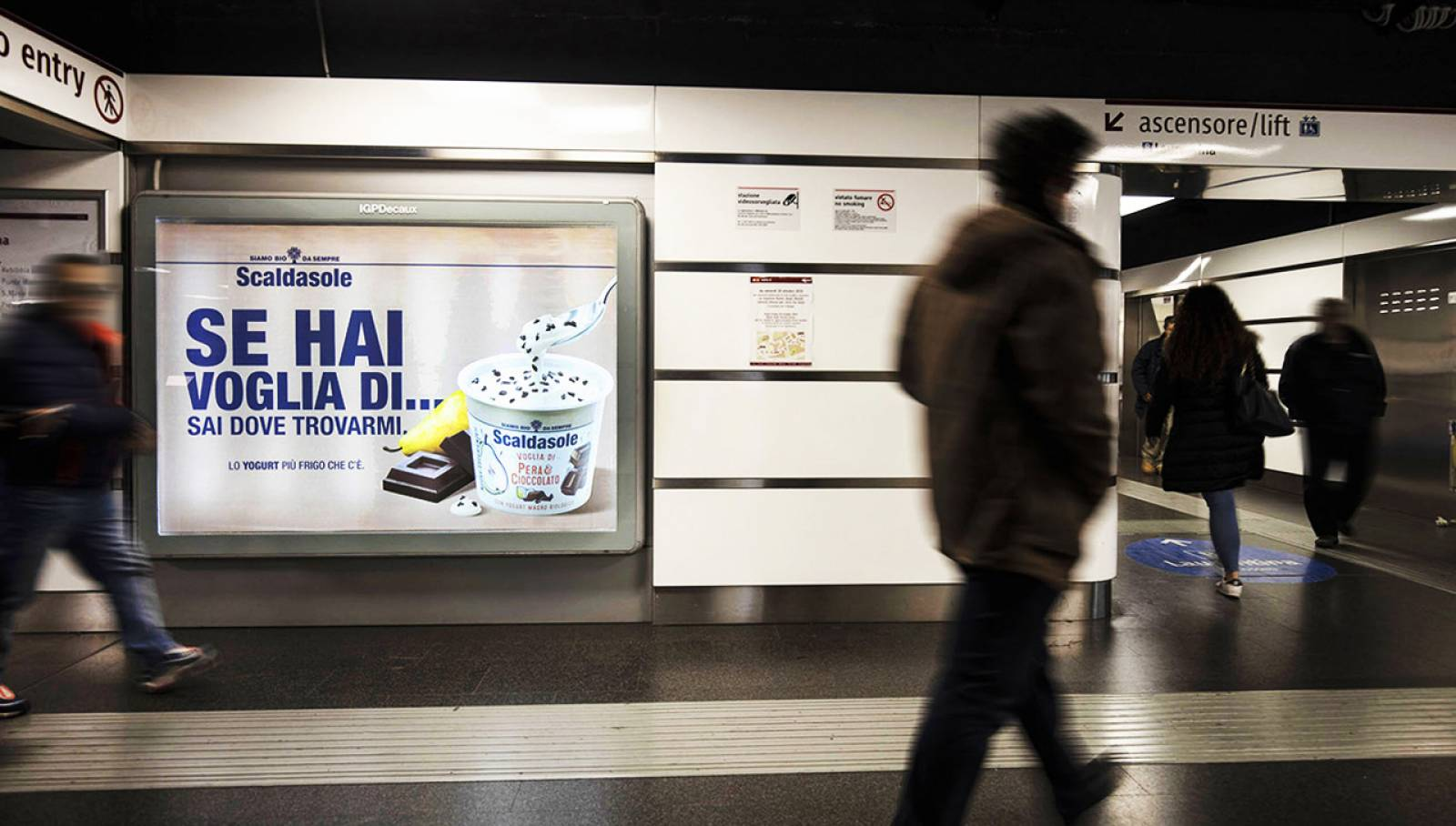IGPDecaux OOH Underground advertising Landscape coverage Network in Rome for Scaldasole