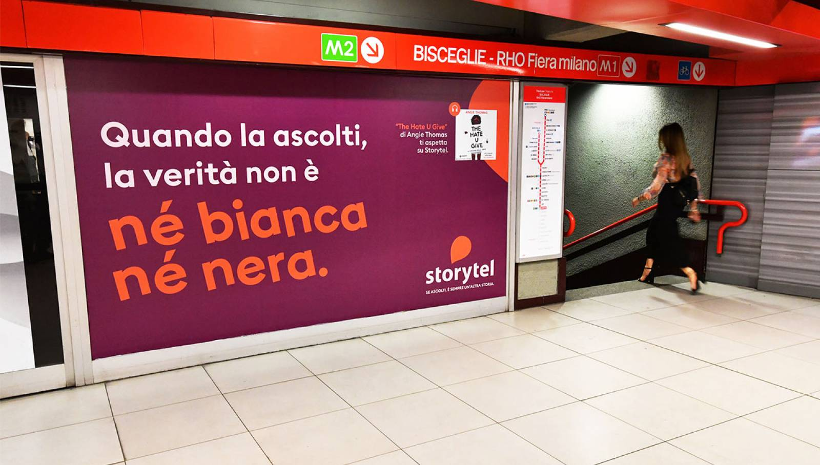 IGPDecaux Out of Home Advertising Station Domination a Milano per Storytel
