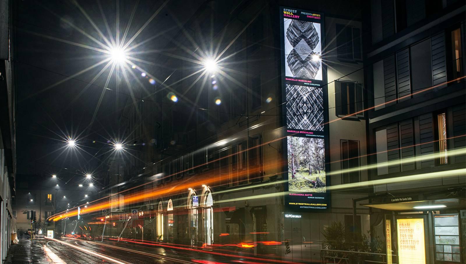 IGPDecaux OOH Milano impianto per Street Wall Gallery