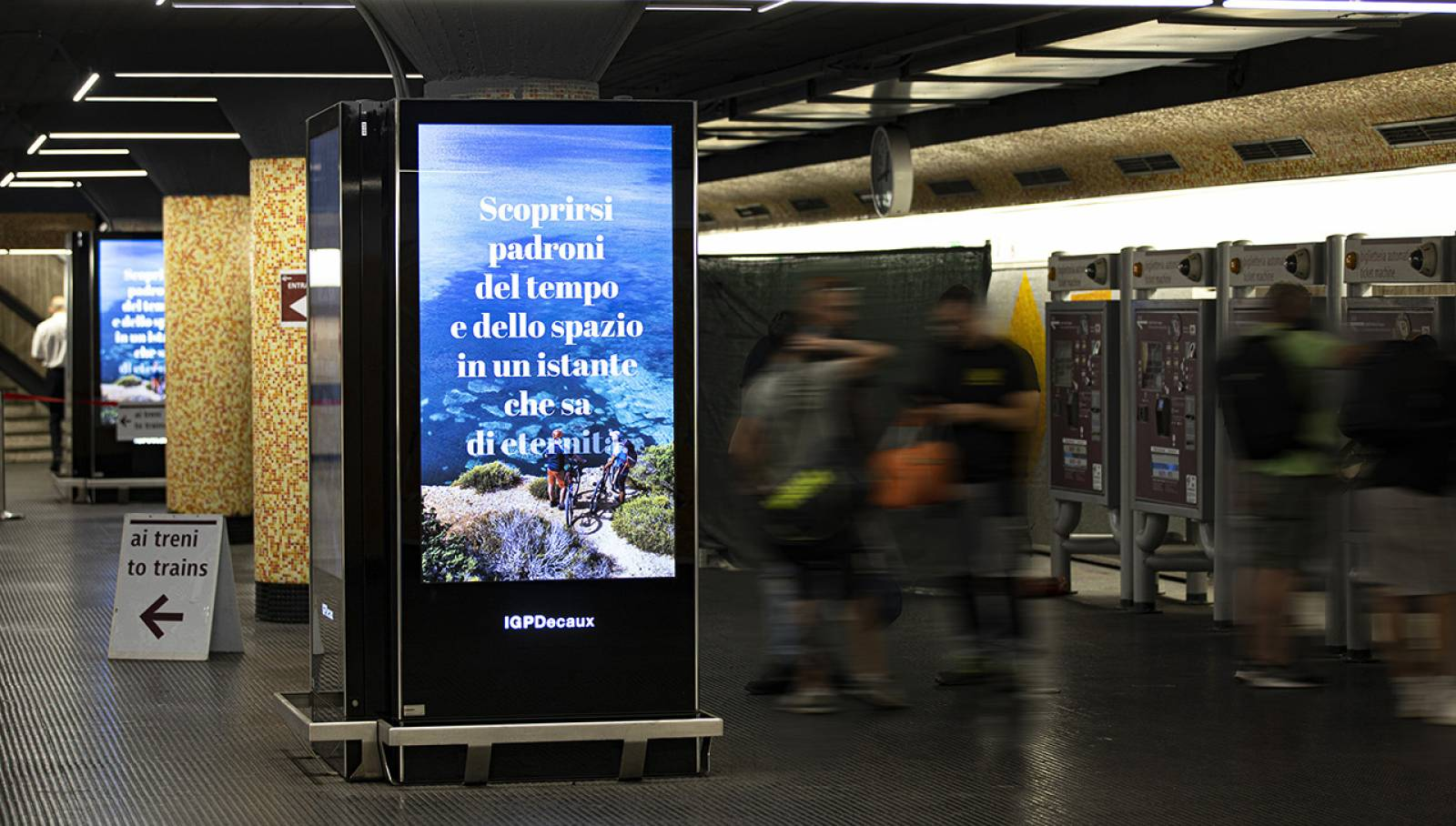 Pubblicità in metropolitana IGPDecaux Roma Network Vision per Toscana Promozione Turistica