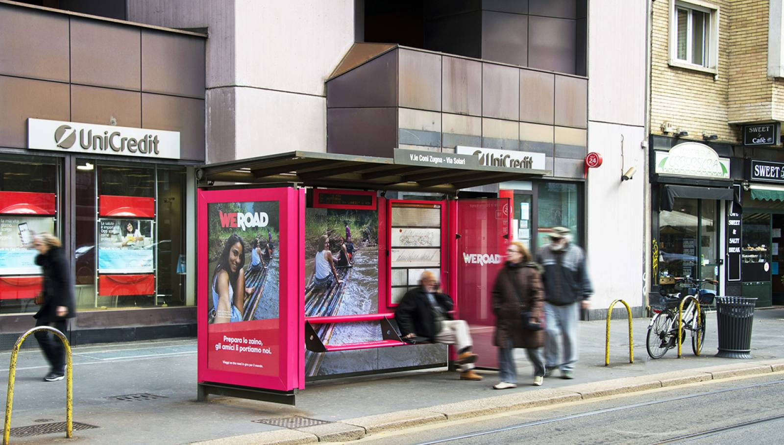 IGPDecaux Milan Brand Shelters for WeRoad