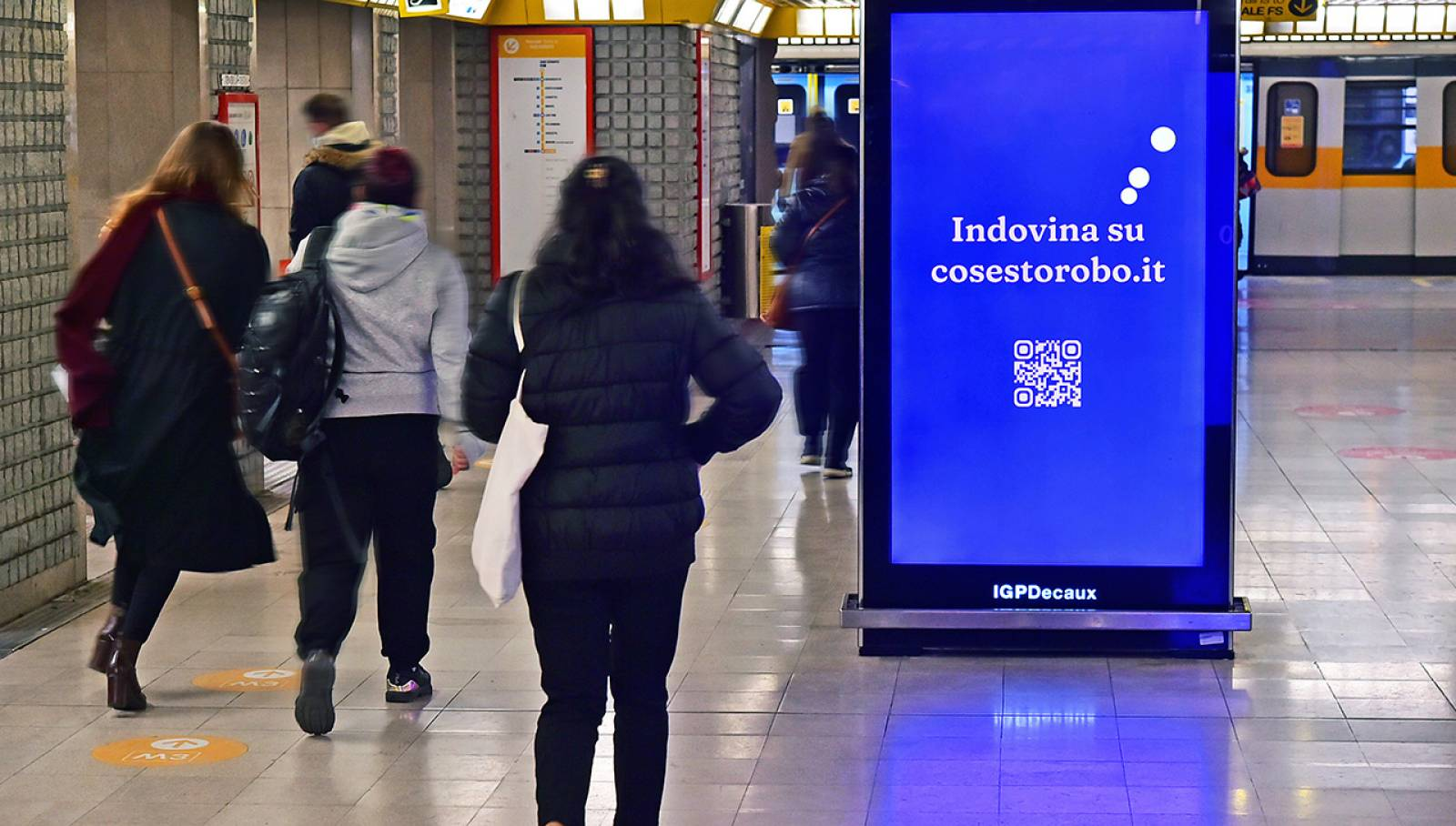 Pubblicità in metropolitana a Milano IGPDecaux Network Vision metropolitana per NeN