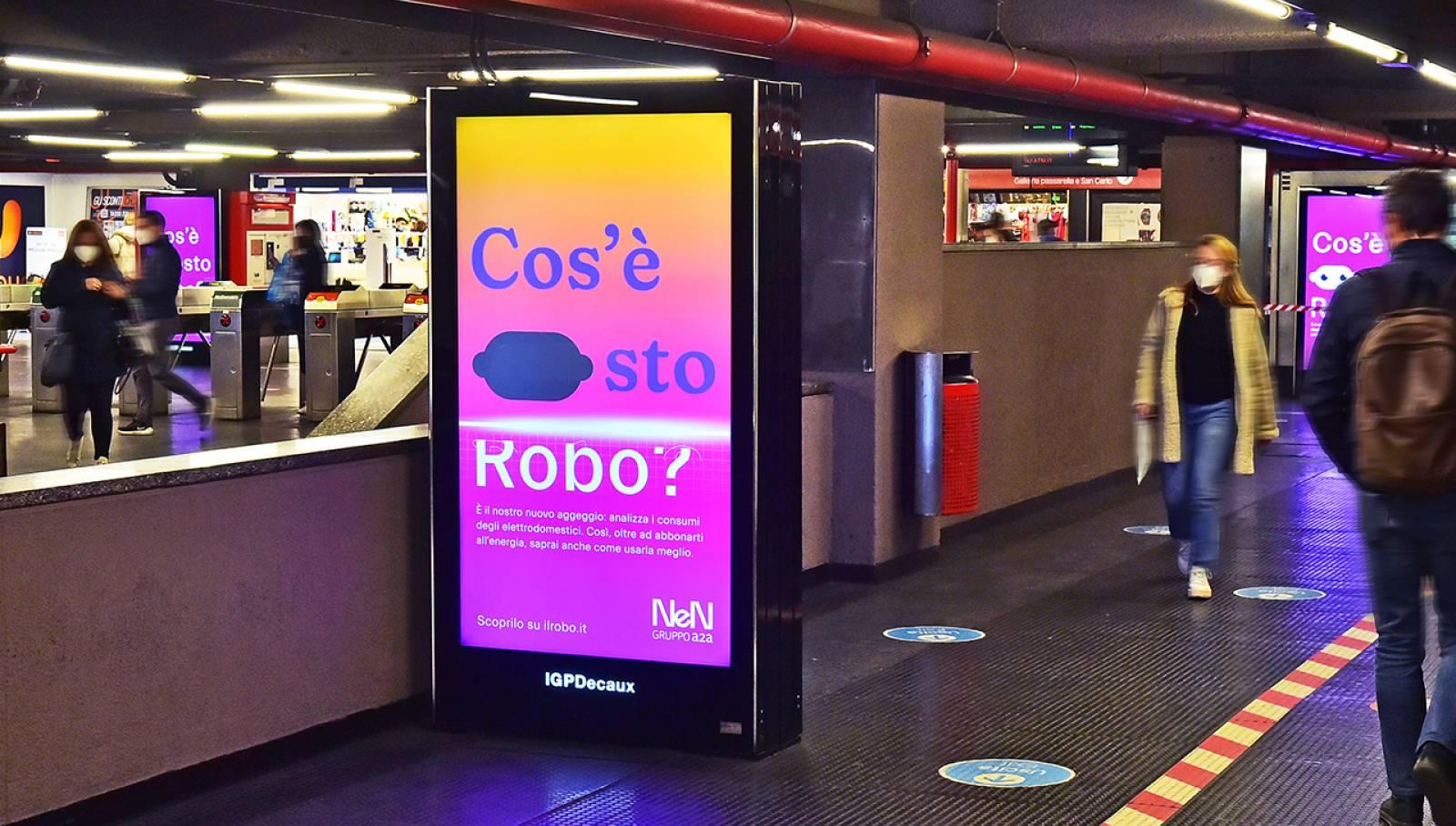 Pubblicità in metropolitana a Milano Network Vision metropolitana IGPDecaux per NeN