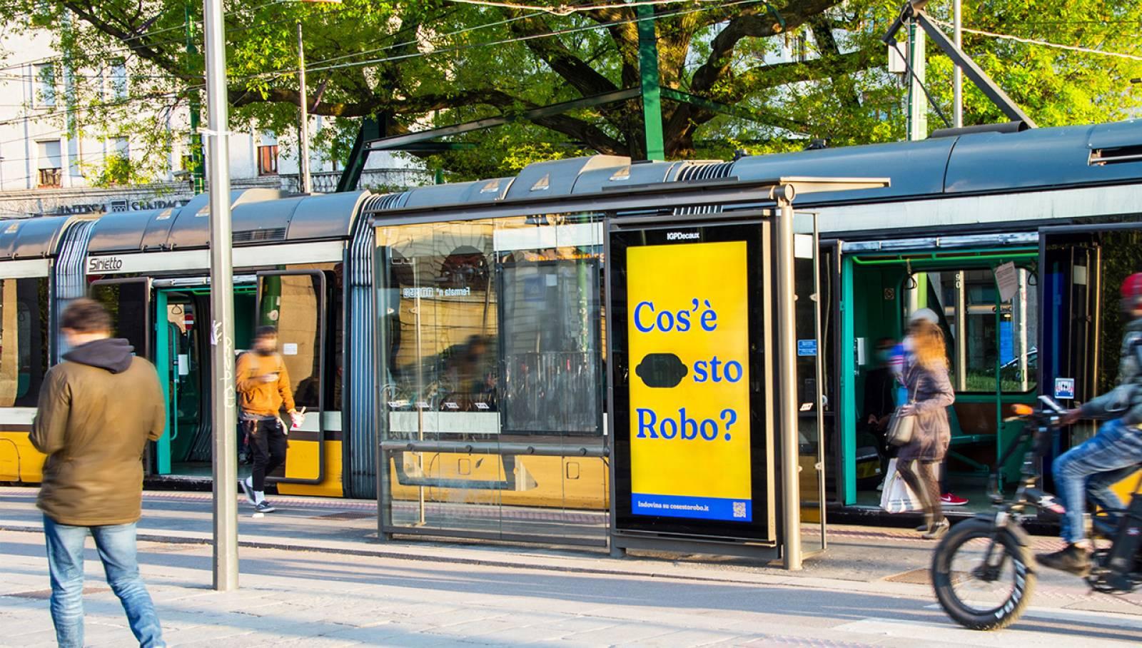 Pubblicità sulle pensiline IGPDecaux Milano Network Vision per NeN