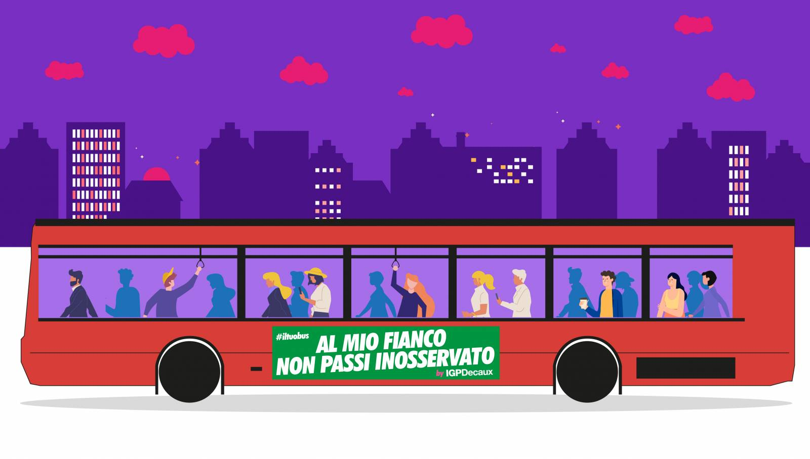 Pubblicità su autobus Side Banner IGPDecaux