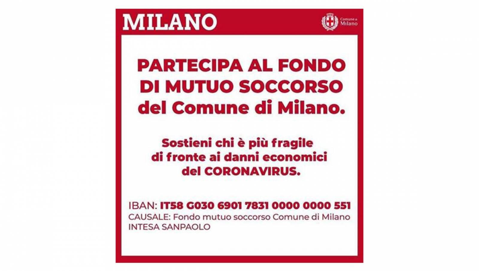 Raccolta di mutuo soccorso Comune di Milano