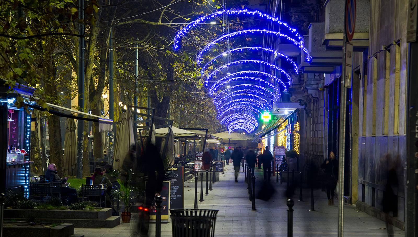 OOH Natale 2018 IGPDecaux illuminazione per Nexi