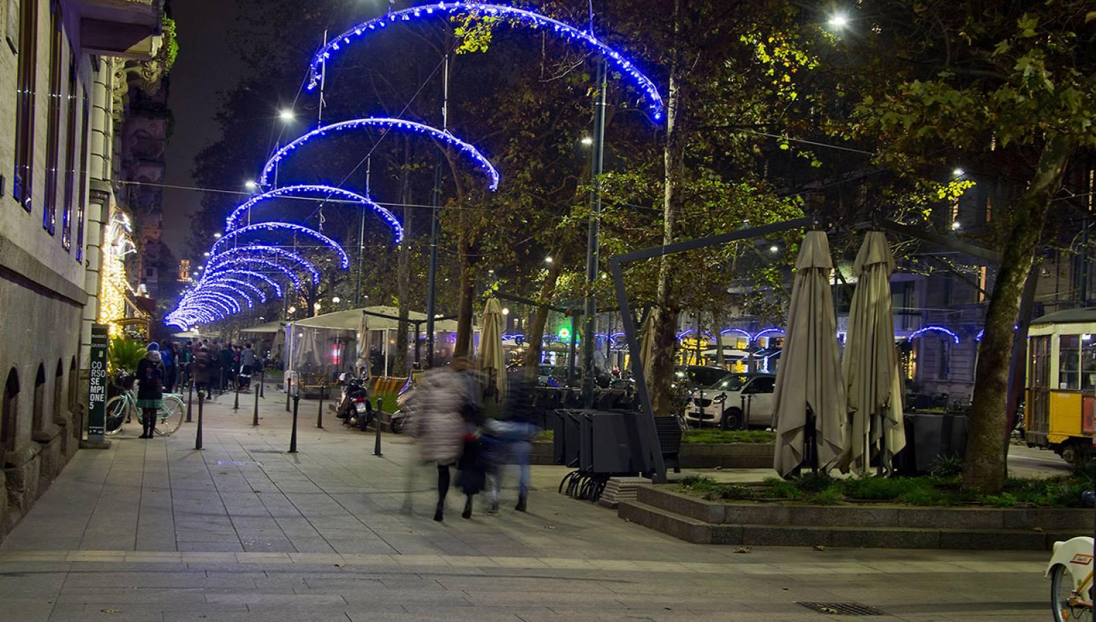 IGPDecaux Milano illuminazione Corso Sempione per Nexi