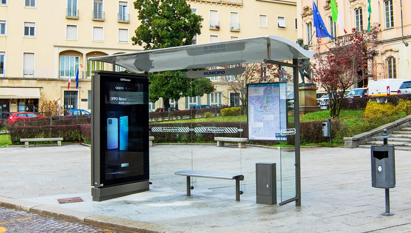 Pensiline digitali Pavia IGPDecaux Autoguidovie