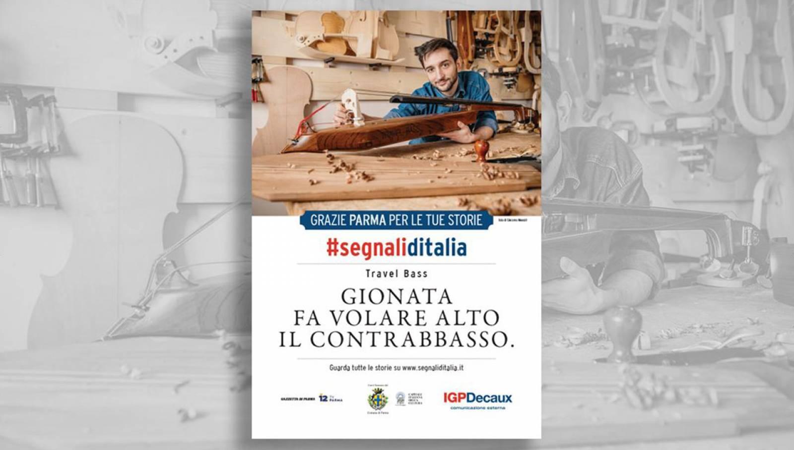 Segnali d'Italia Parma campagna di ringraziamento IGPDecaux