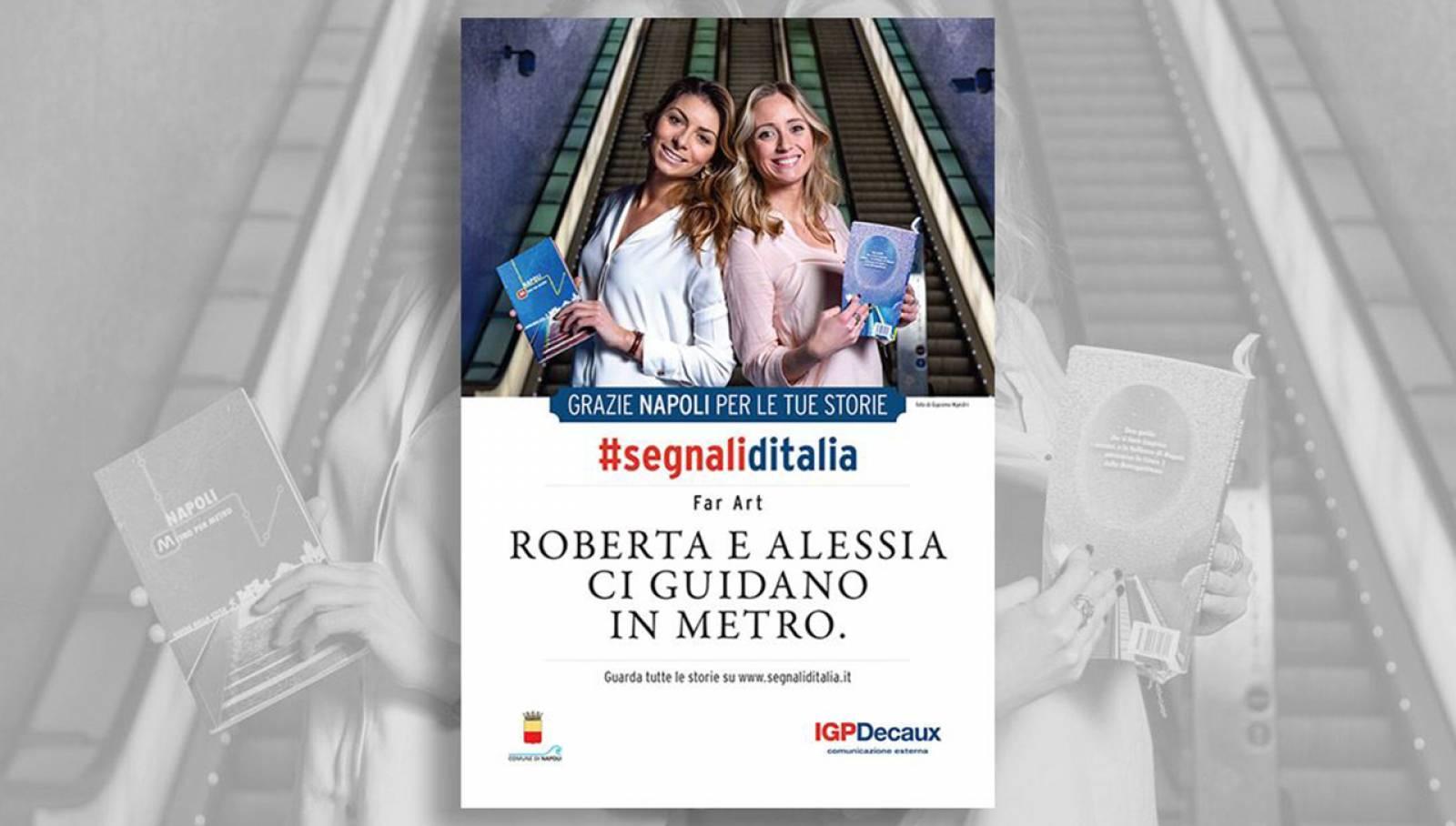 Segnali d'Italia campagna di ringraziamento Napoli per Far_Art