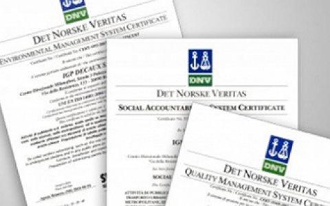 IGPDecaux conferma le certificazioni