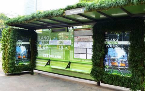 Milano Green Week 2019: IGPDecaux realizza la prima pensilina dedicata al verde e all'ambiente