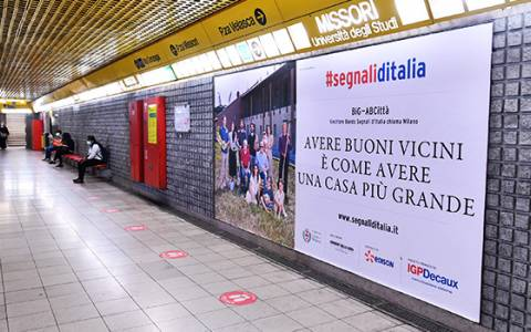È on air la campagna OOH di IGPDecaux con i progetti vincitori del Bando di Segnali d'Italia