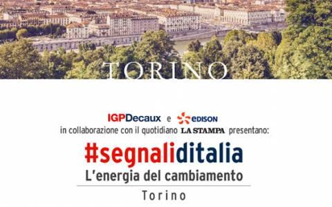 """""""Segnali d'Italia – L'energia del cambiamento"""" arriva a Torino: la città è protagonista con IGPDecaux e Edison"""