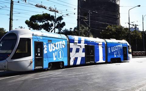 A Napoli arriva il tram 1 e la creatività è Out of Home con IGPDecaux