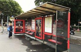 Coca-Cola DeGustibus brand pensilina Milano