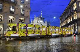 Out of Home advertising tram for BookCity in Milan