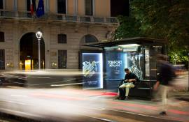 OOH advertising IGPDecaux Milan brand shelters Tom Ford