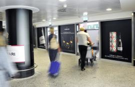 IGPDecaux out of Home Reach Networks at Malpensa for Ferrari
