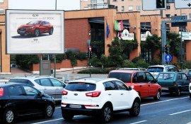 Cartellone pubblicitario IGPDecaux senior a Torino per Infiniti